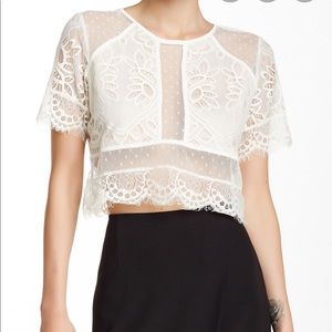 Lovers + Friends Lace crop top size S